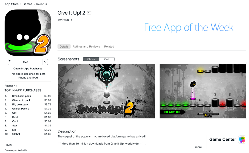 Give It Up! 2-App of the Week-2