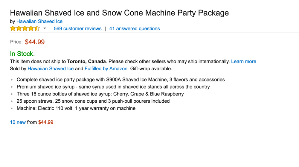 Hawaiian Shaved Ice and Snow Cone Machine-sale-03