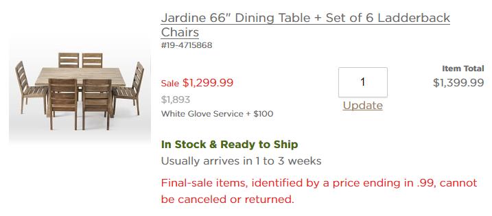 jardine dining table cart