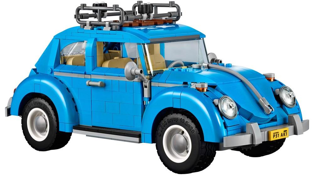 Lego VW beetle side blue