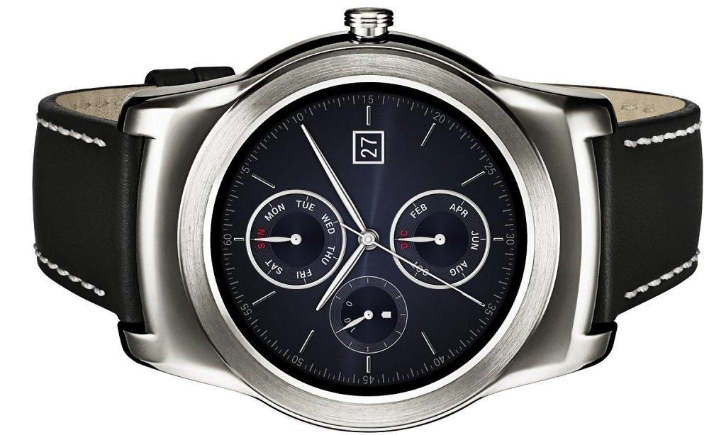 LG Watch Urbane Smartwatch w: Leather Wristband in Silver