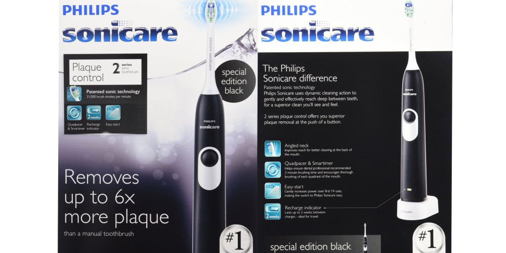 Philips Sonicare 2 Series Sonic Electric Rechargeable Toothbrush in Black (HX6211:07)-3