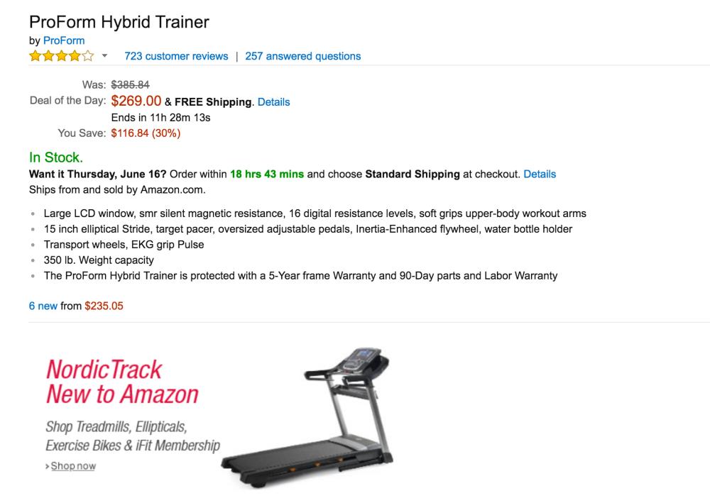 ProForm Hybrid Trainer elliptical-style machine-3