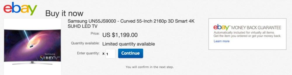 Samsung UN55JS9000 - Curved 55-Inch 2160p 3D Smart 4K SUHD LED TV