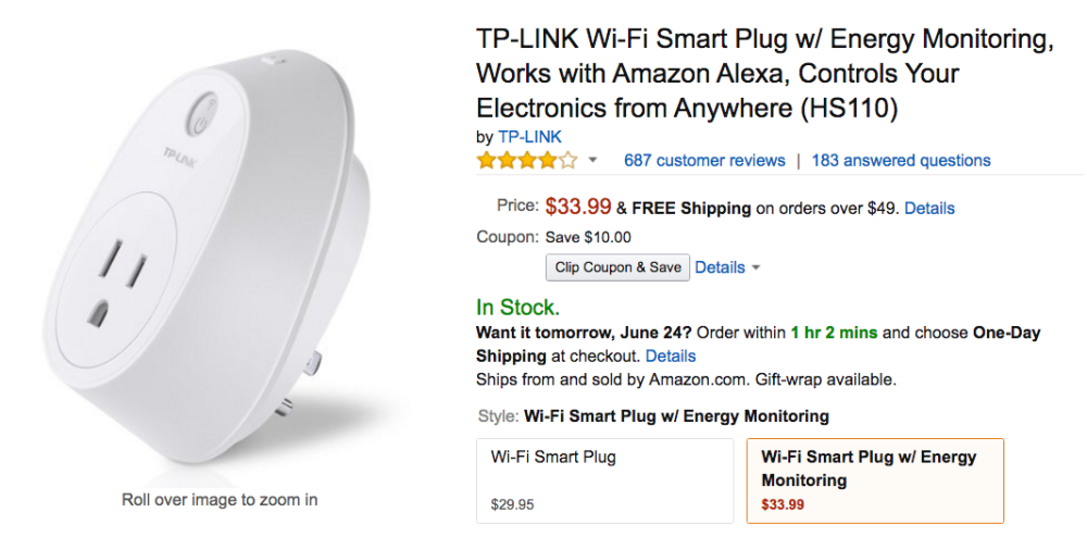 tp link smart plug amazon sale