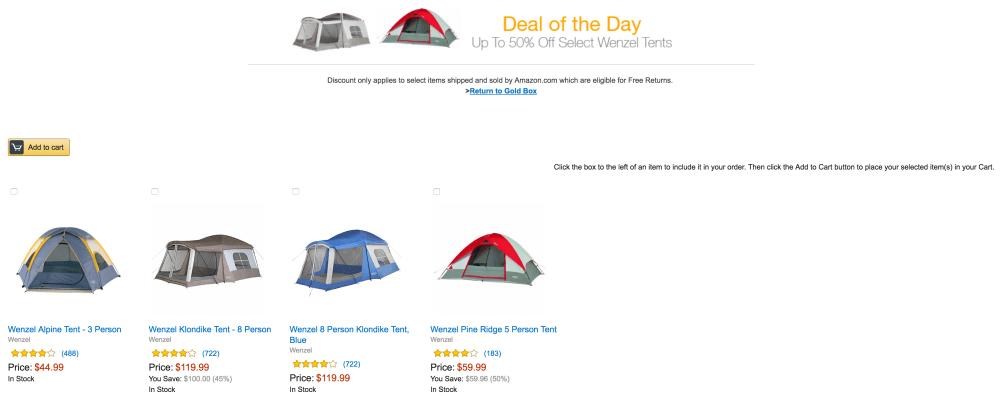 Wenzel 8 Person Klondike Tent sale-1