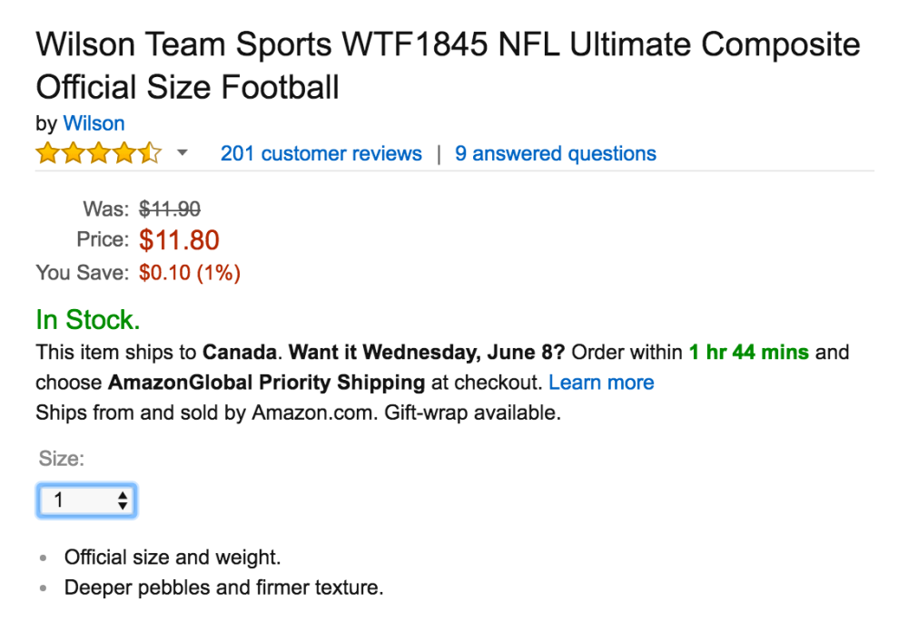 Wilson Team Sports WTF1845 NFL Ultimate Composite Official Size Football-3