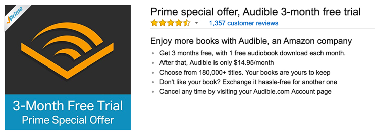 3 months of audible for free