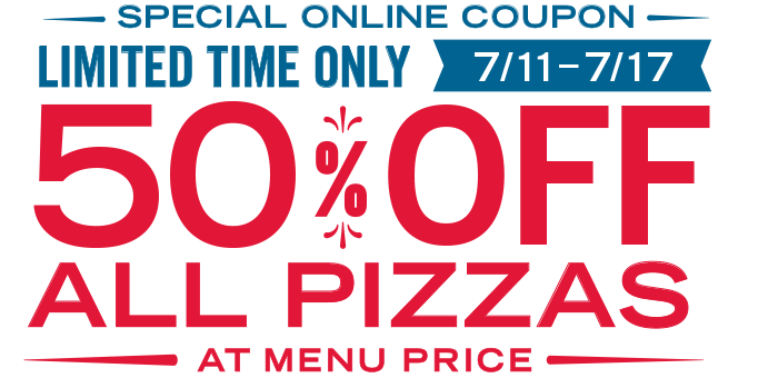 This week you get 50% off Domino's Pizza plus today only you