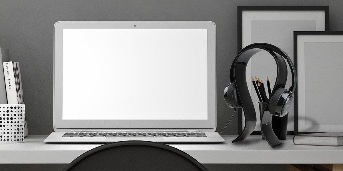 Headphone Holder Desk Headset Hanger Durable Head-mounted Double Hook Design