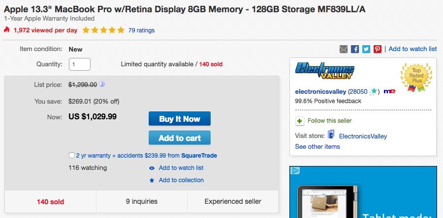 apple retina macbook pro ebay