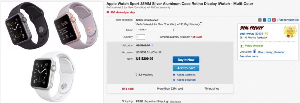 apple watch sport ebay