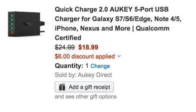 Aukey 5-port charger
