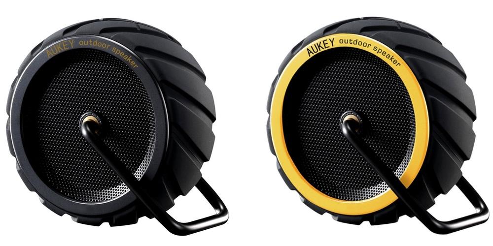 AUKEY Bluetooth Speaker, Wireless Outdoor Wheel Speaker