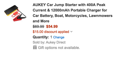 Aukey car jump starter