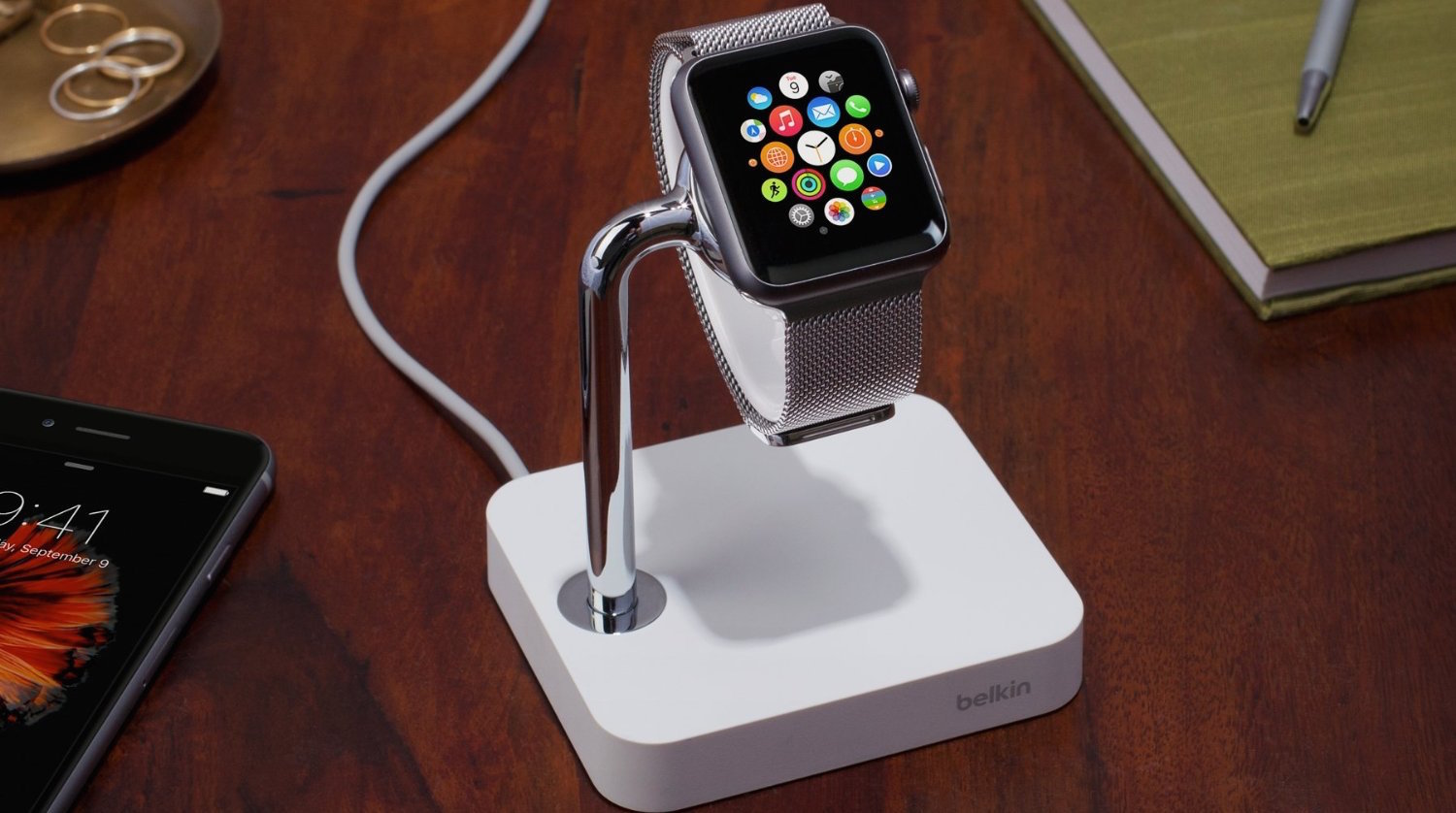 Belkin's Valet Apple Watch Dock comes w/ an integrated charger for $40 (Reg. $60)