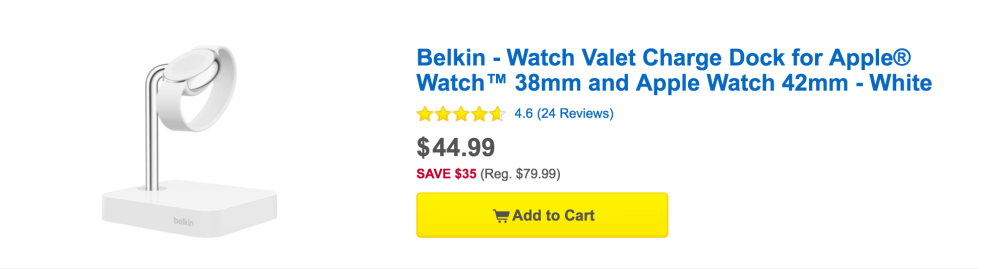 Belkin Watch Valet Charge Dock for Apple Watch (38mm and 42mm)-4