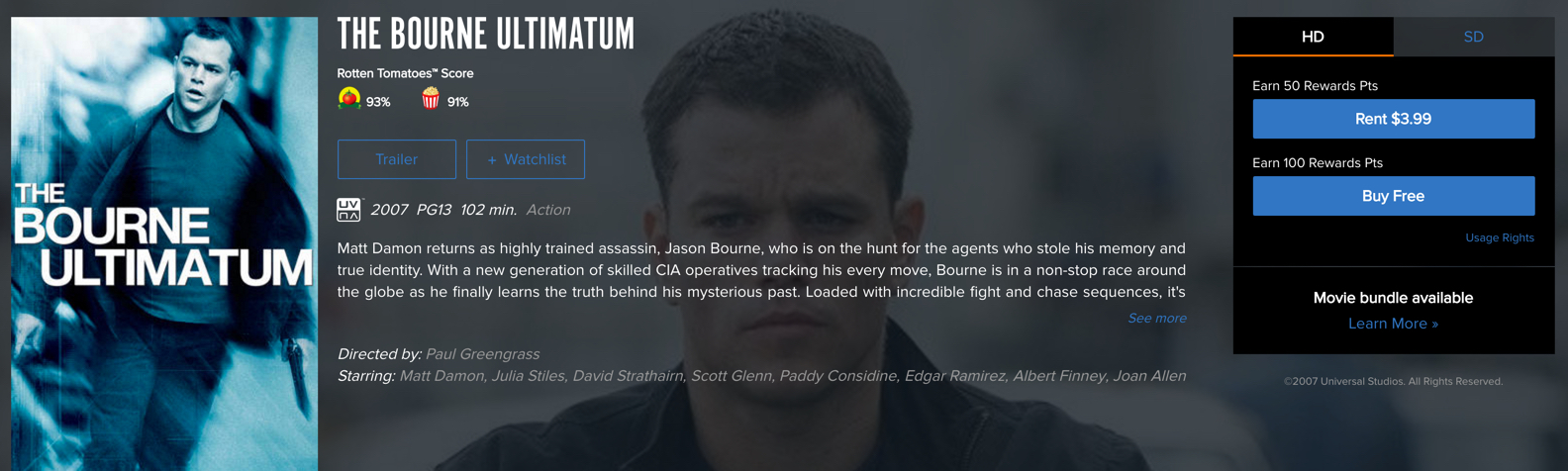 bourne ultimatum free