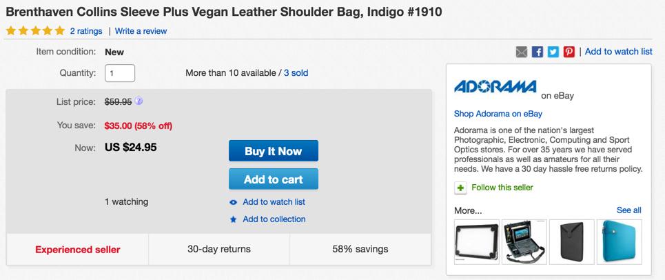 Brenthaven Collins Sleeve Plus Leather Shoulder Bag