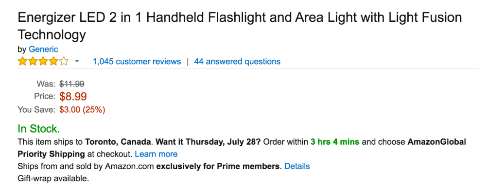 Energizer LED 2 in 1 Handheld Flashlight and Area Light with Light Fusion Technology-4