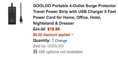 GOOLOO usb charging strip