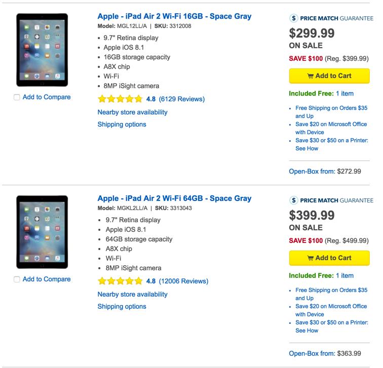 ipad air 2 at best buy