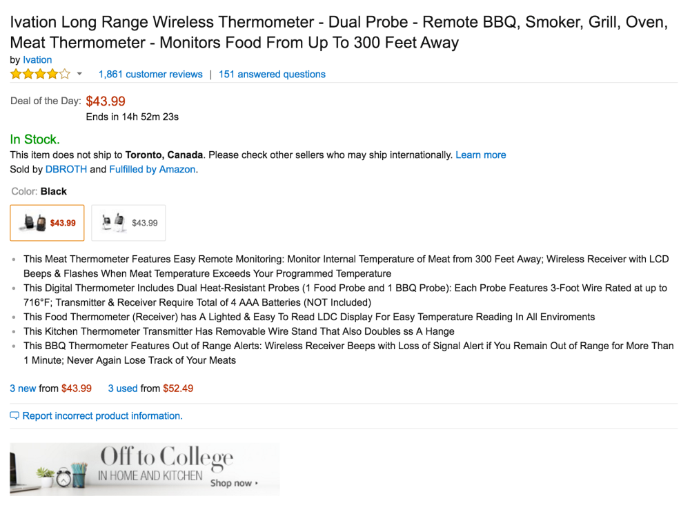 Ivation Long Range Wireless Dual-Probe Meat Thermometer-2