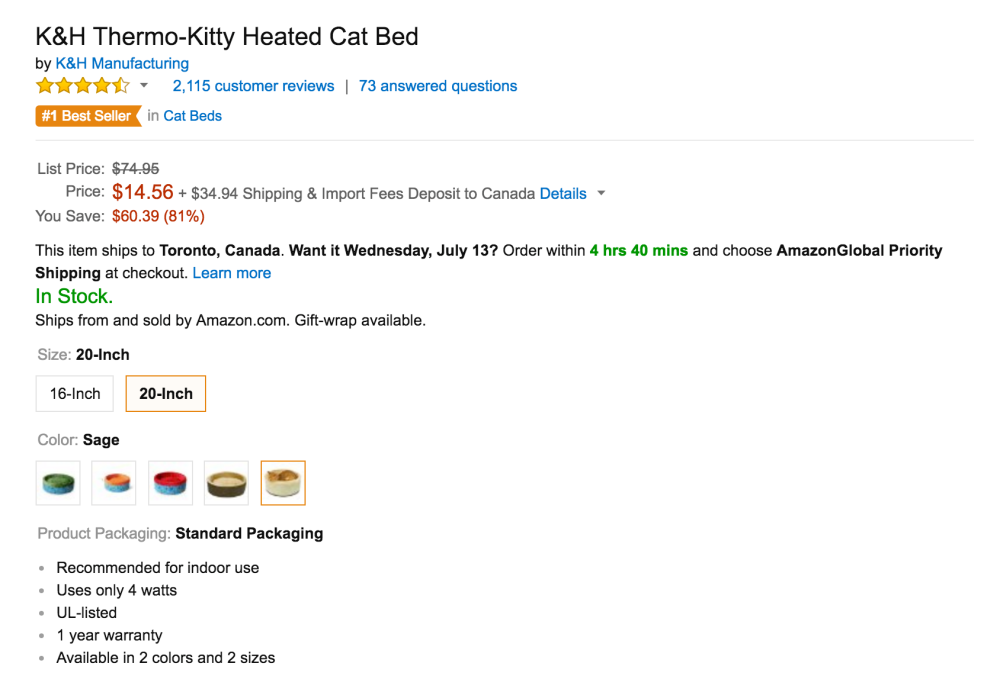 K&H Thermo-Kitty Heated Cat Bed-3