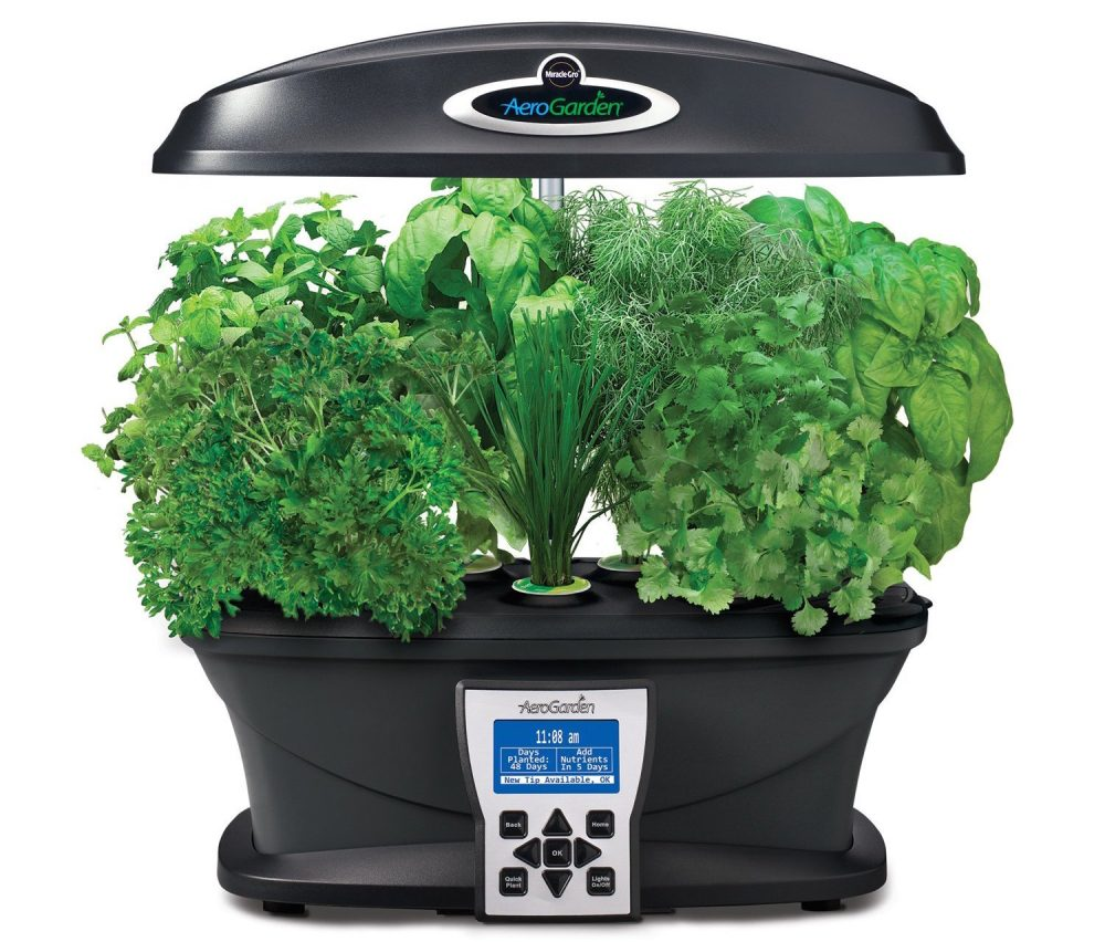 Miracle-Gro AeroGarden Ultra Indoor Garden with a larger 7-Pod Gourmet Herb Seed Kit