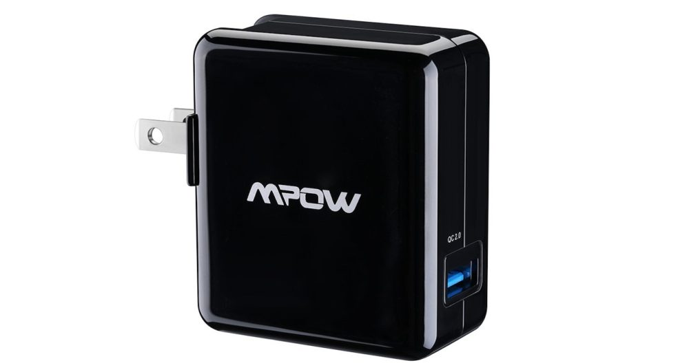 Mpow 18W USB AC Wall Charger with Qualcomm Certified Quick Charge 2.0 XSmart Technology