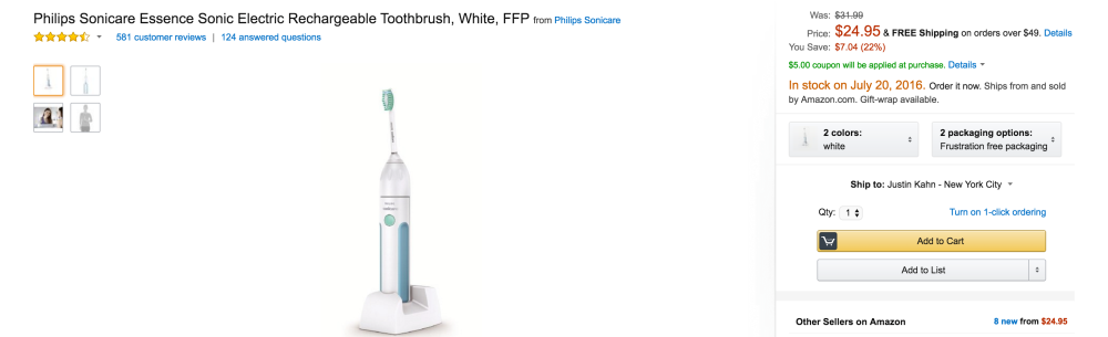 Philips Sonicare Essence Sonic Electric Rechargeable Toothbrush-2