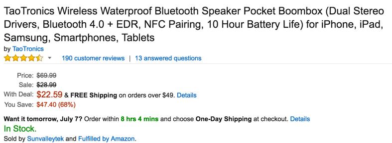 taotronics BT speaker