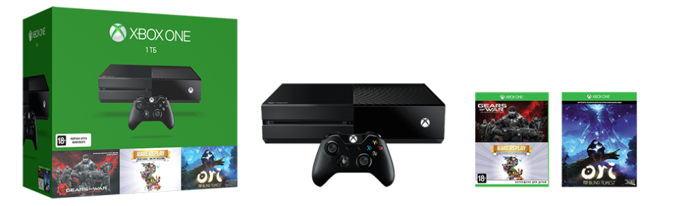Xbox One 1TB Triple Game Console Bundle