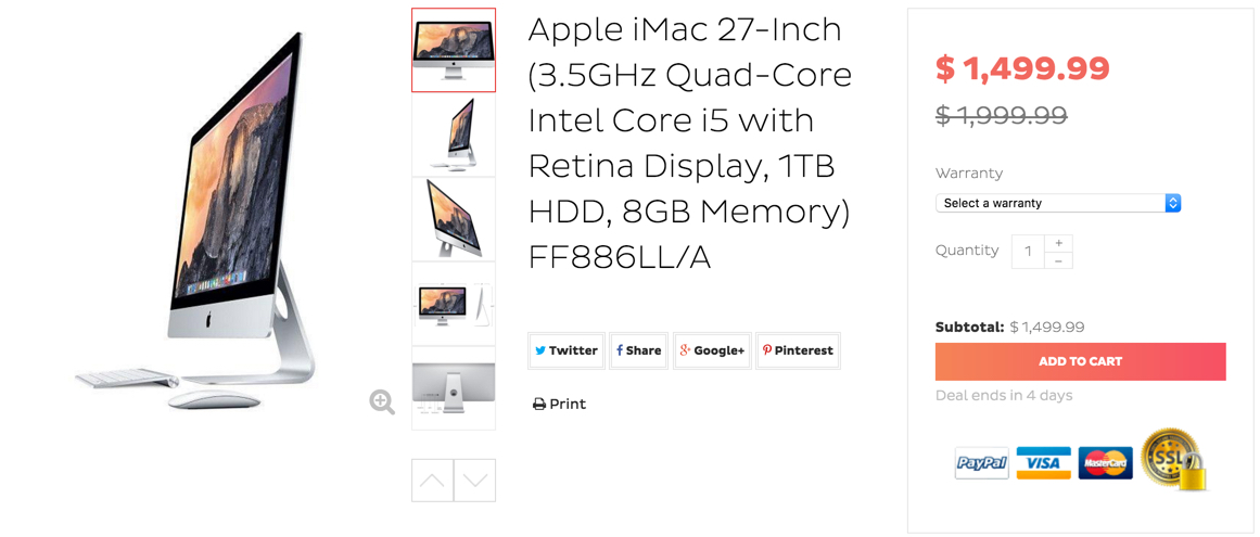 apple refurb imac