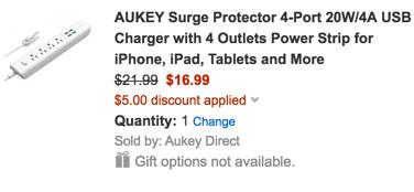 aukey power strip