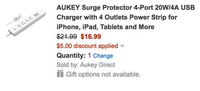 Aukey surge protector