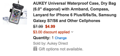 AUKEY Universal Waterproof Case