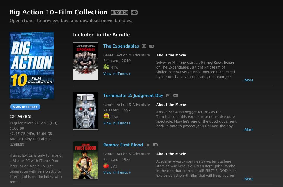 big action collection itunes
