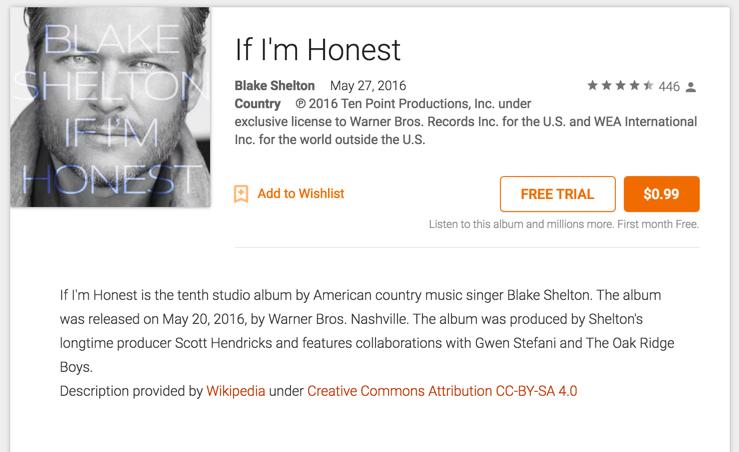 Blake shelton honest