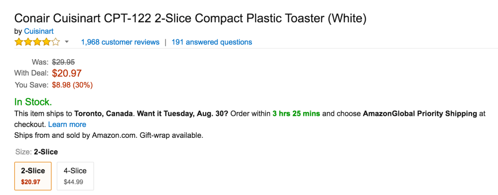 Conair Cuisinart CPT-122 2-Slice Compact Plastic Toaster-3