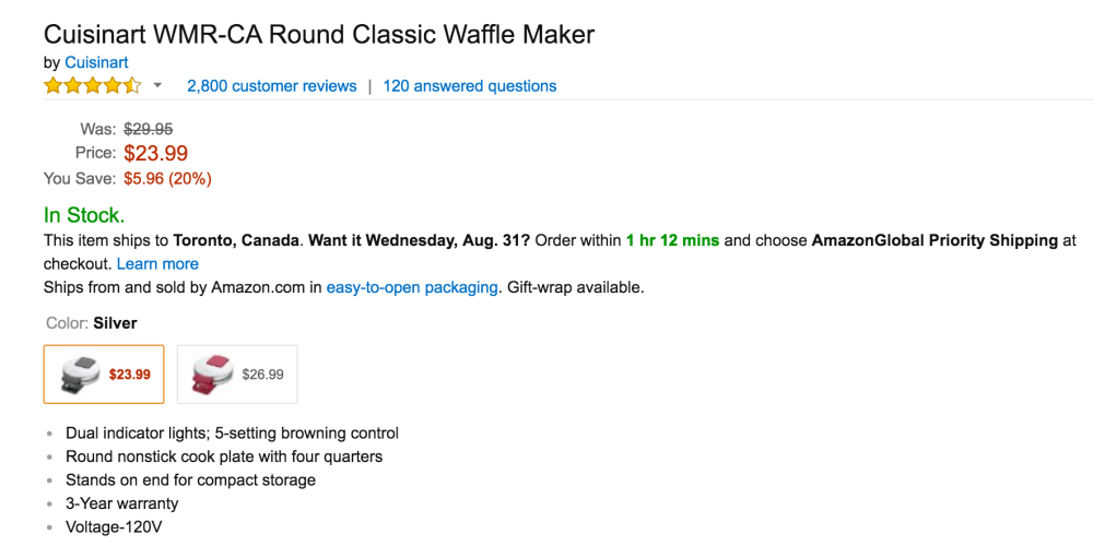Cuisinart Round Classic Waffle Maker (WMR-CA)-4