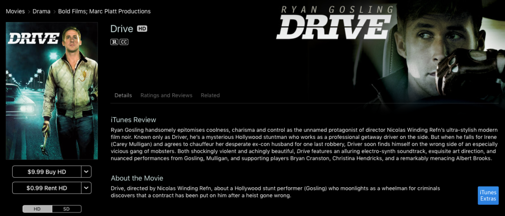 drive itunes movie