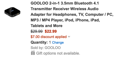 Gooloo Bluetooth adapter trx