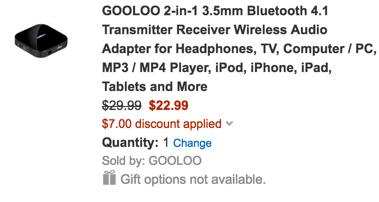 Gooloo Bluetooth adapter trx