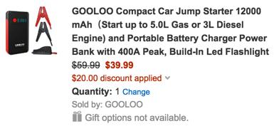 gooloo power bank code