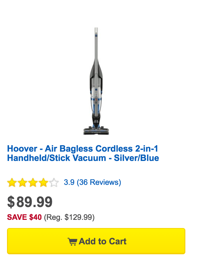 Hoover Air Bagless Cordless 2-in-1 Handheld-Stick Vacuum-6