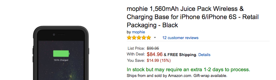 mophie juice pack wireless amazon