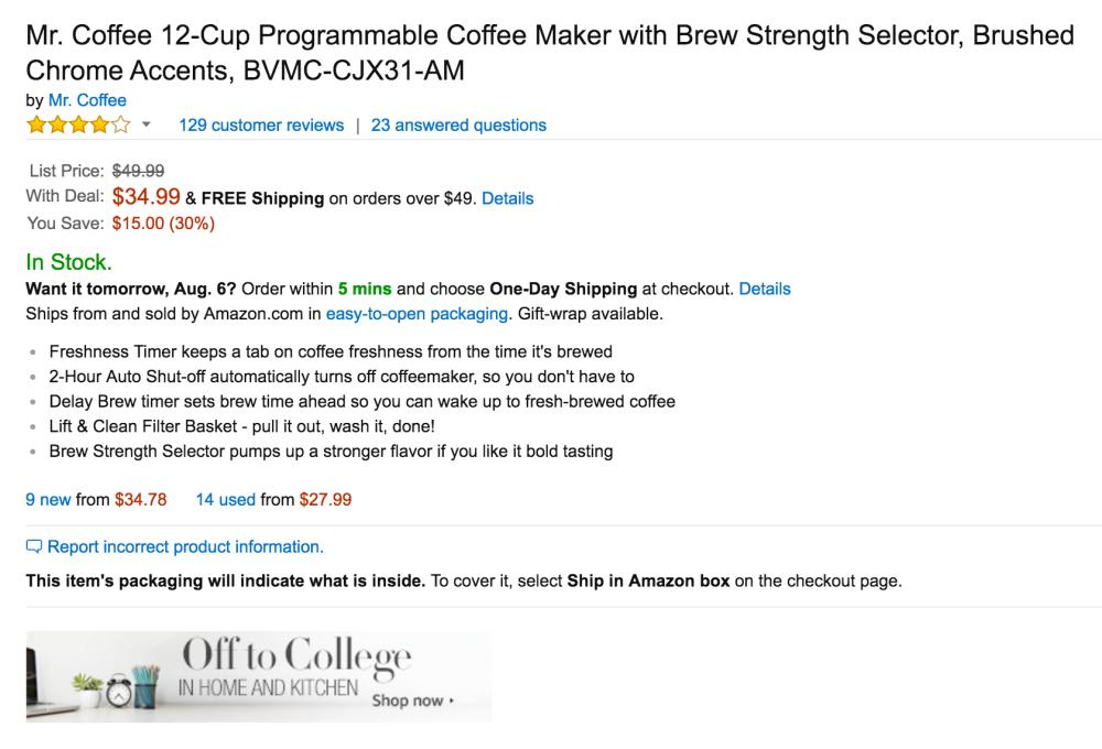 Mr. Coffee 12-Cup Programmable Coffee Maker -sale-02