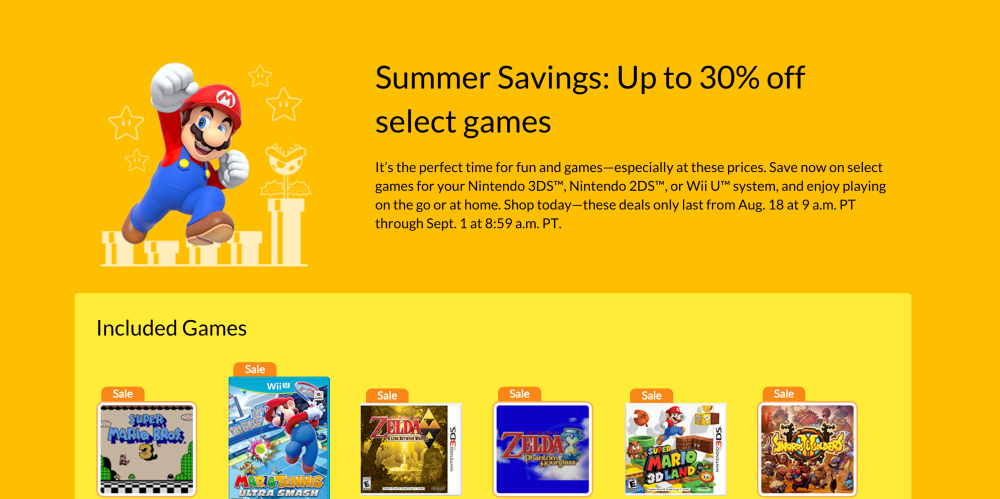 Nintendo Summer Sale