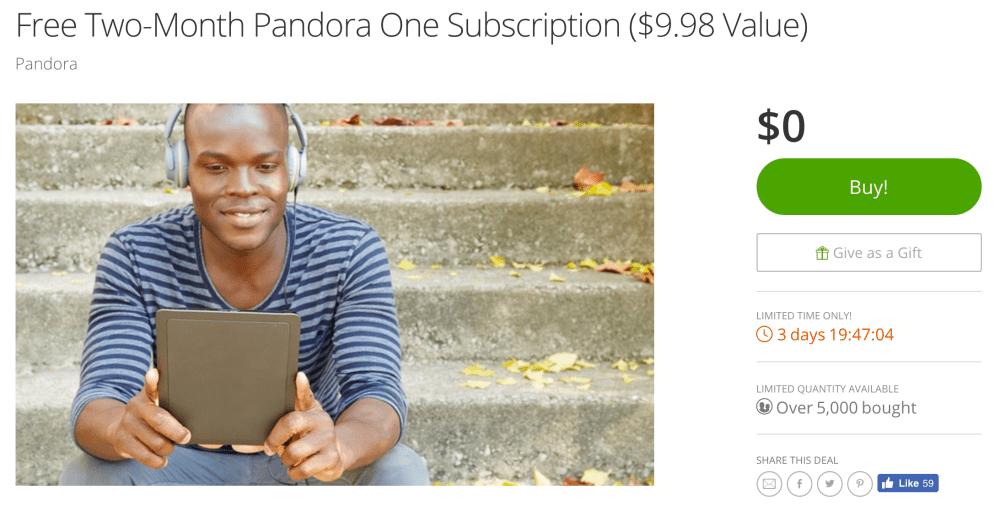 pandora-one-groupon-deal